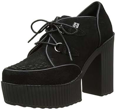 T.U.K. Damen Yuni Creeper Schuhe, Noir (Black Cow Suede), 38 EU