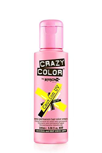 Crazy Farbe Semi-permanenten Haar Dye Renbow 4x Vorsicht UV 100ml. Versandkosten zu Europäische Länder