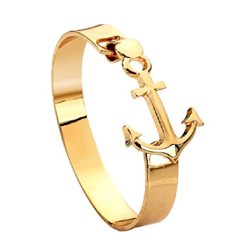 Preisvergleich Produktbild Anker Armband Gold Metall für Damen und Herren Panelize C. & A. (Gold)