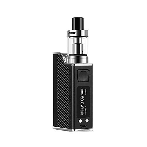 Conpush 80W cigarrillo electrónico E Cig Mod Kit de inicio, 1500mAh batería, Pantalla LCD de 0.91 pulgadas(negro, sin nicotina)