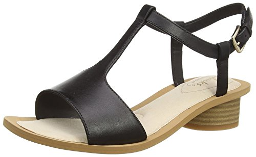 Clarks Sandcastle Ice, Damen Slingback Sandalen, Schwarz (Black Leather), 41 EU (7 Damen UK)