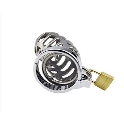 LRWTY Keuschheitsmetall-Keuschheitsschloss aus Edelstahl mit Anti-Release-Ring Exquisite und schön LW ( Size : S 38mm ) (Game Cam-locks)