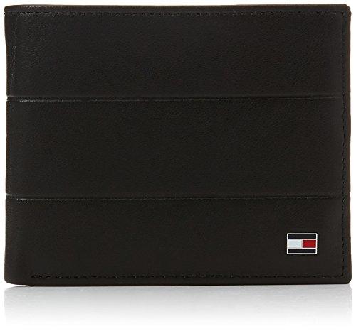 Tommy Hilfiger Corporate Mini Cc Wallet - Portafogli Uomo, Nero (Black), 1.5x8.6999999999999993x10.7 cm (B x H T)