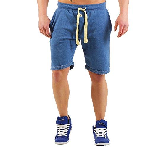 Finchman Shorty F1011 Herren Shorts Kurze Hose Bermuda Sweatpant Sweat Short Blau
