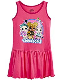 L.O.L. Surprise ! Vestido De Niña Verano | Vestido Infantil Niña Rosa Sin Mangas | Vestidos De Niña Verano 2019 con 100% Algodón | Ropa para Niñas De Confetti Pop | Regalo para Niña