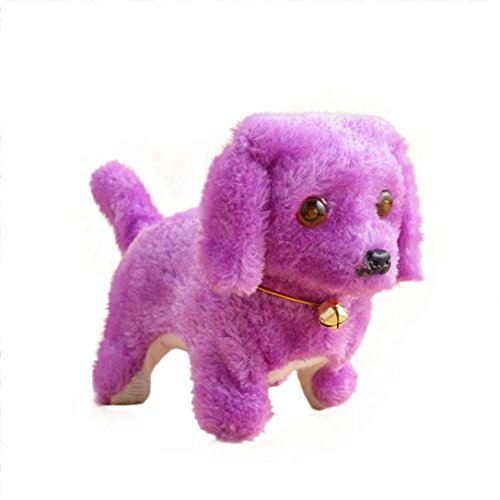 Xshuai 20 * 9 * 13,5 cm Neue Roboter Nette Elektronische Walking Pet Hund Welpen Kinder Spielzeug Mit Musik Licht (Lila)