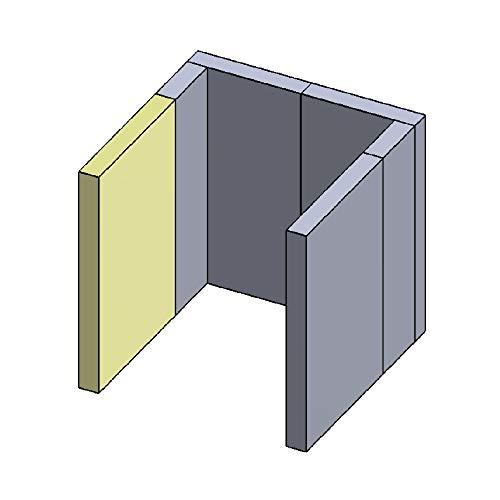 Wandstein vorne Links/rechts 320x217x30mm (Schamotte)