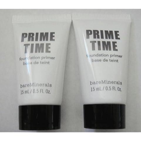 2 Bare Minerals Prime Time Foundation Primer 0.5 Oz. Each by Bare Escentuals
