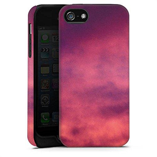 Apple iPhone 4 Housse Étui Silicone Coque Protection Lilas Nuages Ciel Cas Tough terne