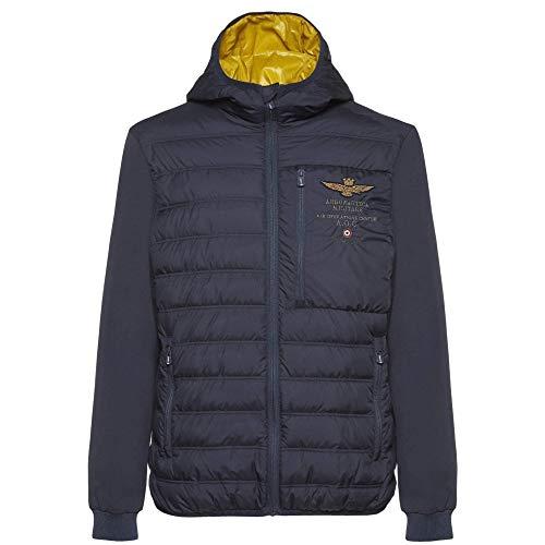 Aeronautica militare -  felpa con cappuccio - uomo blue s