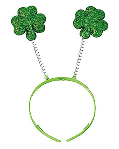 Kostüm Glücksbringer - Haarreif mit Kleeblatt als Glücksbringer für St. Patricks Day & Silvester