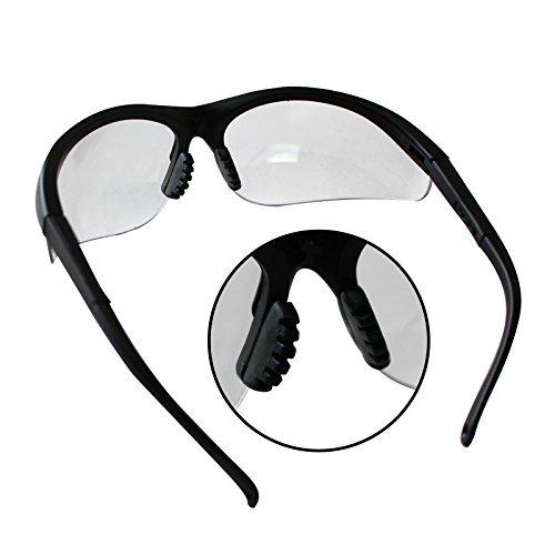 781d67687a Pack 12 Gafas de Seguridad Negras Lentes Transparentes Protectoras ...