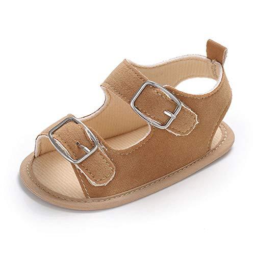 QINJLI Baby Schuhe, Sommer 0-1 Jahre alte Baby Sandalen atmungsaktiv Silikon Anti-Rutsch Kleinkind Schuhe Klettverschluss Öffnen und Schließen ()