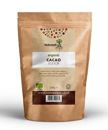 Natures Root Biologische Kakaomasse 250g - UNGESÜßTE BACKSCHOKOLADE |KOCHZUTAT |ANTIOXIDANTIEN KRAFTPAKET -