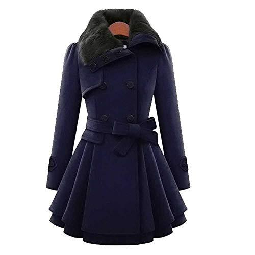 Winter Damen Parka Winddicht Damen Dicker Mantel Langer Woll Zweireiher Damen Warme Jacke Plus Size