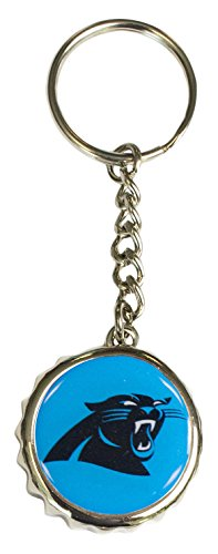 Pro Specialties Group NFL Carolina Panthers Bottle Cap Keychain, Teal, One Size
