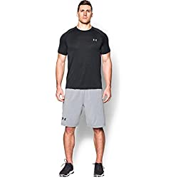 Under Armour Ua Tech Ss Tee Herren Fitness - T-Shirts & Tanks, Schwarz Black Steel, L