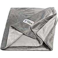 PetFusion Premium Große Hundedecke (53x41). Reversible Grey Micro Plush. [100% Polyester weich]