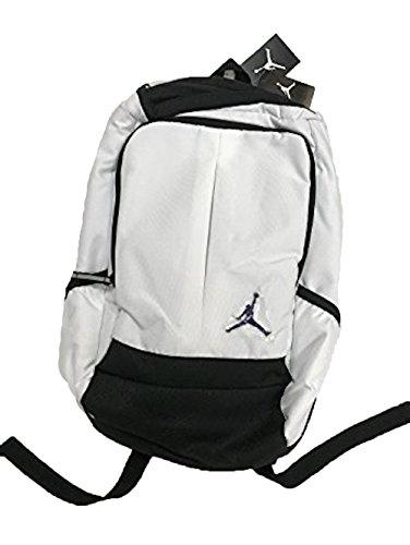 Nike New Air Jordan Jumpman Classic Boy 's Girl 's Segeltuch Laptop Aufbewahrung Sport Tasche, weiß/schwarz