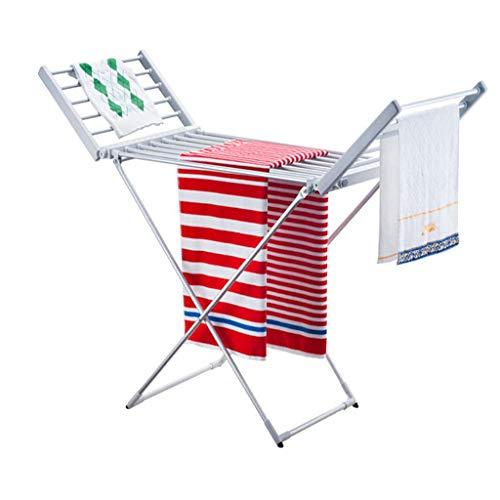 LLCC Asciugamano Elettrico per Asciugamani sterilizzatore per Porta Asciugamani Alluminio Legato Supporto da Pavimento per Asciugatura Asciugamani