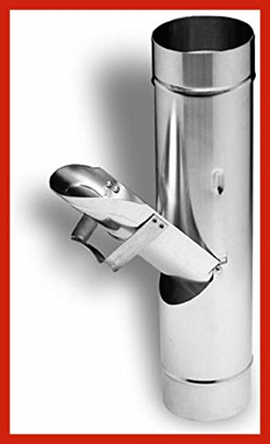Regenrohrklappe Aluminium 100 mm