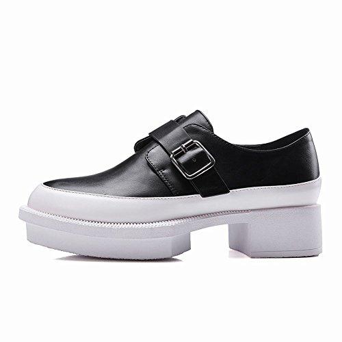 Mee Shoes Damen chunky heels runde mehrfarbig Pumps Schwarz