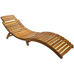 SAM Gartenliege Rio, klappbar, Akazien-Holz geölt, Sonnenliege mit Tragegriff, massives Gartenmöbel, FSC 100% Zertifiziert