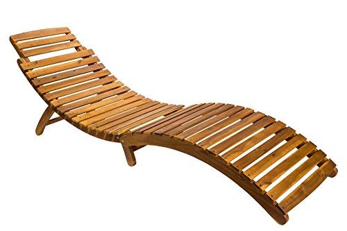 SAM Gartenliege Rio, klappbar, Akazien-Holz geölt, Sonnenliege mit Tragegriff, massives...