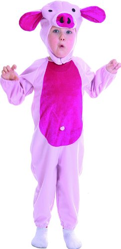 Kleinkind Owl Kostüm - Pink Piggy - Chidlren Kostüm - Kleinkind - 90 bis 104cm