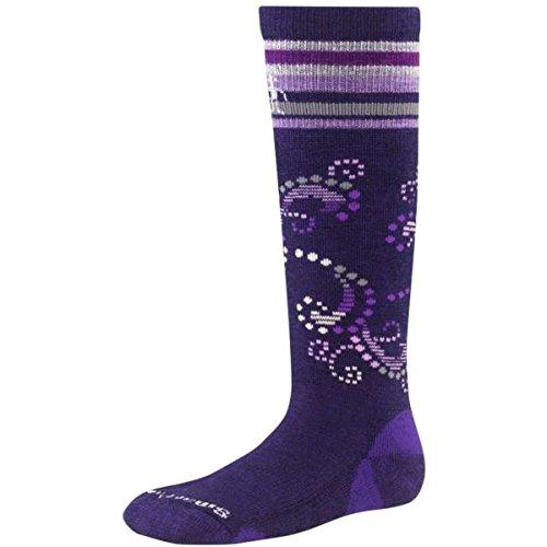 Smartwool paire de chaussettes de ski pour fille girls'racer Violet - Violet