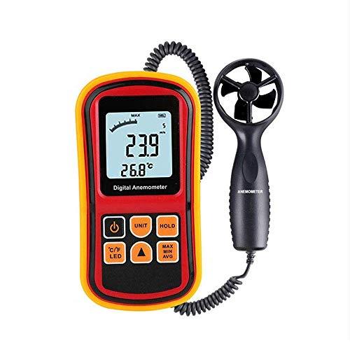 MEETGG Anemómetro de Mano Medidor Digital de Velocidad del Viento LCD 0-45 m/s con Interfaz USB Record...