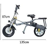 SMLRO JX003Plegable un Segunda Triciclo Eléctrico Bicicleta Scooter 14Pulgadas 250W 36V 10.4Ah 3Velocidad li-batterie Puissant Bicicleta Triciclo Scooter para Adultos/Niños