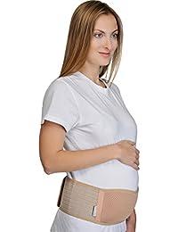 Supportiback Bauchband für Schwangere – Schwangerschaftsband & Bauchbinde Während & Nach der Schwangerschaft – Schwangerschaftsgürtel & Schwangerschaftsbandage aus Atmungsaktivem & dehnbarem Material