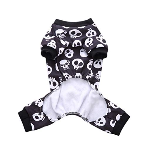 Amosfun Overalls Hunde Skelett Halloween Haustier Kostüm Party Cosplay
