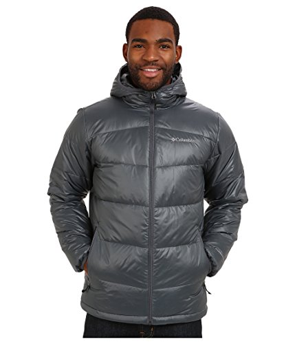 Columbia Men's Gold 650 TurboDown Hooded Down Jacket, XX-Large, Graphite (Columbia Jacket 650)