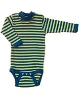 Baby Body langarm ringel, Wolle & Seide, Engel Natur, Gr. 62/68-110/116, 3 Farben