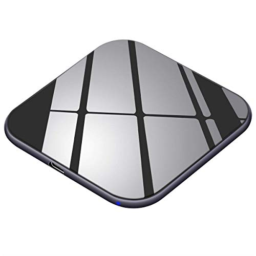 Te-Rich Caricatore Wireless 15W Caricabatterie Massimo Qi 10W per Samsung Galaxy S10/S10 +/S10e/S9 Plus/S9/S8/Nota 8,7.5W per iPhone X/XS/XS Max/XR/8 Plus/8