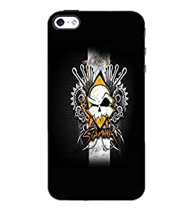 PrintDhaba Abstract Design D-5604 Back Case Cover for APPLE IPHONE 5 (Multi-Coloured)