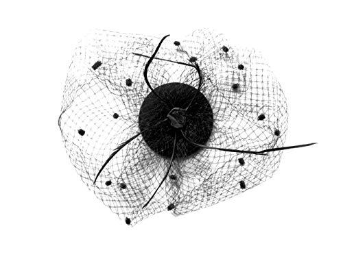 Mini-Hut / Fascinator Hut schwarz, Größe Atixo:OS (Schwarzen Mit Schleier Hut)