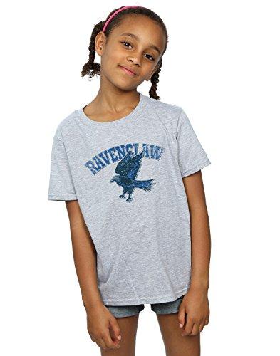 HARRY POTTER Mädchen Ravenclaw Sport Emblem T-Shirt 12-13 Years Sport Grey