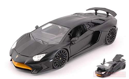 Jada Toys JADA99705BK Lamborghini Aventador SV 2017 MATT Black 1.24 DIE CAST kompatibel mit