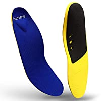 SUSCONG Arch Support Insoles for Men Women, Plantar Fasciitis Shoe Inserts, Orthotic Foot Insoles, Relieve Flat Feet Pain, Running Athletic Orthopedic Work Boot Cushion Pad