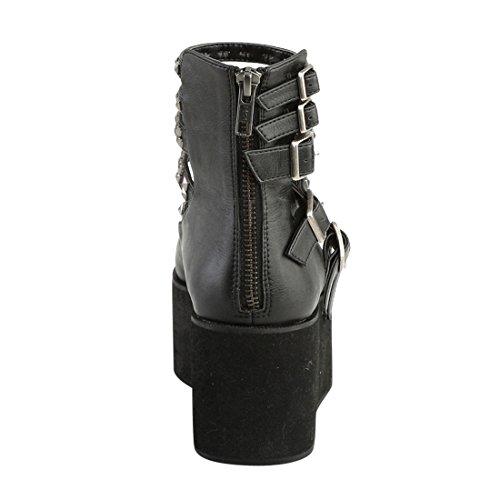 Demonia GRIP-31 Blk Vegan Leather