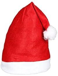 'Lot de 6 Bonnets de Père Noel mere Noël qualité Alsino (wm-32) Coloris rouge et blanc. avec pompon l''accessoire festif idéal pour les fêtes de fin d''année pour se déguiser ou marquer l''événement pour un joyeux noel cadeau adultes e'
