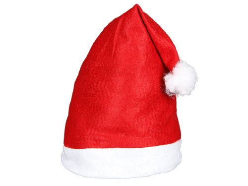 Stück | Einheitsgröße für Erwachsene | Nikolausmützen weich | weisser Rand mit Bommel | Modell: WM-32 ALSINO (Weihnachtsmützen)