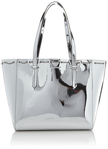 Kendall + Kylie - Izzy Chain, Borse Tote Donna Argento (Silver)
