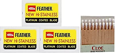 30 Fëather New Hi-Stainless and 20 hemostatic matches by Fëather