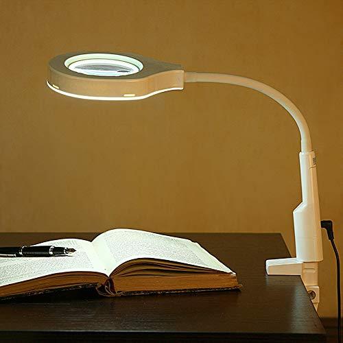 16 LED Licht Beleuchtete Lupe Mit Ständer, 20X Große Leselupe Tischlupe Vergrößerungsglas Mit Beleuchtung Für Reparaturarbeiten Reparatur