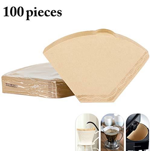 JUSTDOLIFE 100 Zählt Kaffeefilterpapier Kreativer Einweg Filterkegel für Zuhause