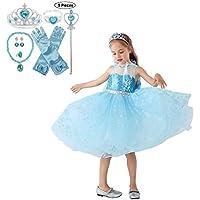 JJAIR Traje del Vestido de la Princesa para Las niñas, los Cuentos de la Princesa Vestido Traje de Hadas con los Accesorios,110